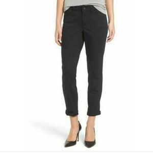 NYDJ Alina Convertible Ankle Black Jeans